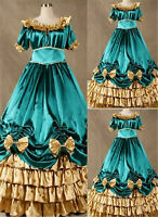 Lolita Victorian Gothic Green Steampunk Party Dress Cosplay Costume Halloween