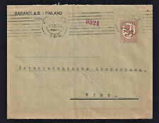 Finnland 1913  Bedarfsbrief  Helsinki nach Wien