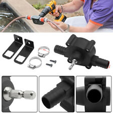 Portable Hand Electric Drill Drive Self-Priming Pump Water Oil Fluid Transfer