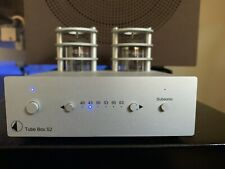 Pro-Ject Tube Box S2 Tube Phono Preamplifier - Silver + 2 Sets Of Tubes