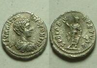 Rare Genuine ancient Roman coin silver fouree denarius Caracalla spes