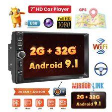 2 Din Autoradio Stereo Android 9.1 GPS Navi 7'' Bluetooth MP5 Radio WIFI FM USB
