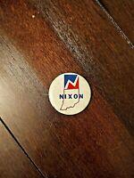 Richard Nixon 1960 Campaign Button - Indiana