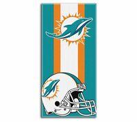 """NFL Miami Dolphins Logo Cotton Beach Towel 30"""" x 60"""" Brand New Zone Read"""