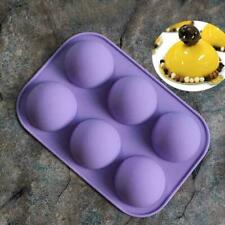 6 Holes Silicone Mold Cooking 3D Half Ball Sphere Chocolate Cake Pastry Mold