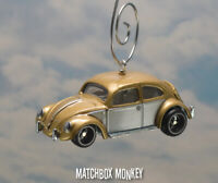 Classic Two Tone Hot Rod Volkswagen Beetle Christmas Ornament VW Bug Herbie 1/64