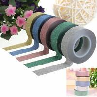 10M Glitter Washi Tape Paper Self Adhesive Roll Decorative Card Craft Easy Tear