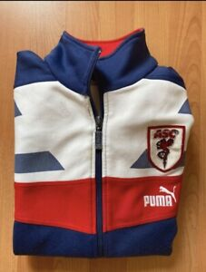 VESTE PUMA AS CANNES FOOTBALL FRANCE NATIONAL  veste vintage tricolore