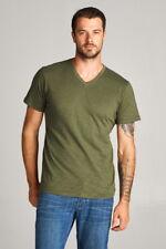 Active USA Mens Short Sleeve V-Neck Cotton T-Shirt