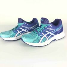 Asics Womens Gel Contend 3 Running Shoes Blue Purple Lace Up T5F9N Low Top 6.5