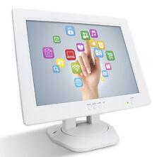 "Used White 12"" Touch Screen LCD TouchScreen Monitor Retail Kiosk Restaurant Bar"