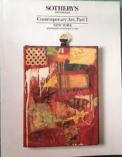 Sothebys Auction Catalog CONTEMPORARY ART Part 1 New York Sale 11/1991