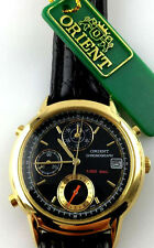 WATCH ORIENT CHRONOGRAPH VINTAGE WATCH QUARZ JCAE01A DATE 10 BAR