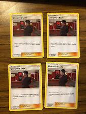 Conjunto de Juego De 4 Cartas-Pokemon S&M intacto bonos entrenador Giovanni's el exilio 174/214
