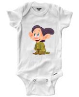 Infant Gerber Onesies Bodysuit Clothes Baby Snow White 7 Dwarfs Dopey Disney