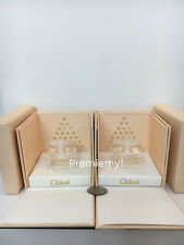 2 x NIB Chloe EDP Eau de Parfum Mini Splash 5ml / 0.17oz each with display case
