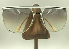 Vintage Viva Moda L200 White Black Brow Oversized Oval Sunglasses Frames Italy