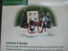Dept. 56 North Pole Accessory 2000 Leonardo & Vincent 56801 Retired 2002 New
