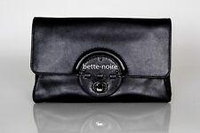 MIMCO PLATEAU CLUTCH BLACK Leather Gunmetal RRP$249 Turnlock Pouch Envelope Bag
