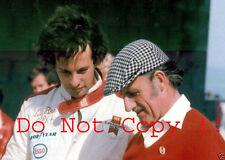 Graham Hill & Tony BRISE Ambasciata Hill F1 Ritratto Fotografia 1975