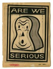"Gary Taxali Signed Numbered print ""Are We Serious"" with Banksy Obey Sticker"