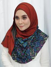 Ready to Ware Instant Hijab Printed Double Loop KAHEERAH Cotton Denim Printed