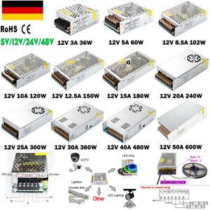 DC 12V 24V LED Netzteil Trafo Schaltnetzteil Adapter Power Supply Für LED Strips