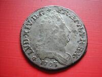 AMN. LOUIS XIV 10 SOLS AUX QUATRE COURONNES 1703 BB STRASBOURG