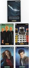 Doctor Who the Card Game 2009 c7e - 5 Art Cards: Crack in Time, Daleks, Nestene