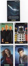 Doctor Who the Card Game 2009 c7e - 5 Art Cards: Crack in Time, Daleks, Nestene