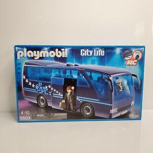 Playmobil City Life 5603 Pop Star Tour Bus Blue RC Compatible Germany 2012 NIB