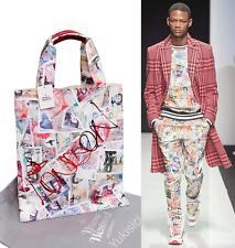 Vivienne Westwood Man Japan Tote Bag Shopper Money Series w/Red Orb London Print