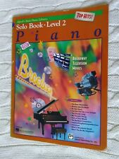 ALFRED BASIC PIANO LIBRARY-TOP HITS- SOLO BOOK-LEVEL 2 (BOOK+CD) LIKE NEW