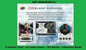 Bruce Banner / Hulk 2021 UD Marvel Black Diamond 1X CASE 10X BOX BREAK #3