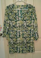 MARGARITAVILLE Pullover Tunic Top Beach Pool Coverup Womans Size Small