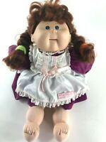 Cabbage Patch Kids Talking Girl Doll Xavier Roberts Vintage Pigtails Red Hair