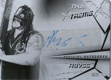 TNA Abyss 2010 Xtreme Black Printing Plate Authentic Autograph Card SN 1/1
