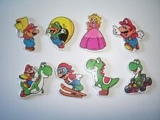 SUPER MARIO BROS SOFT STICKERS FIGURINES SET NINTENDO - FIGURES COLLECTIBLES