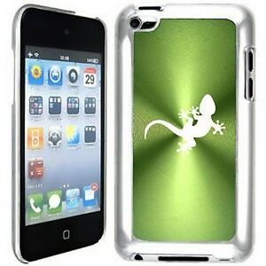 Green Apple iPod Touch 4th Generation 4g Hard Case Cover B520 Gecko Lizard