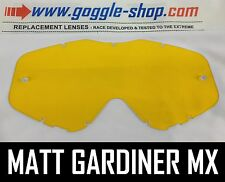 Goggle-shop Lente Para Spy Targa 3 / Whip / Klutch Motocross Goggles Amarillo Tint