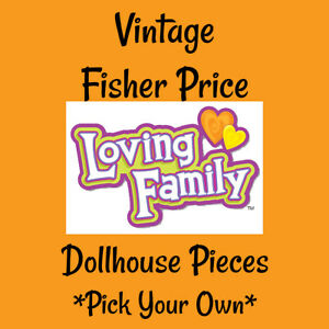 Vintage Fisher Price Loving Family Dollhouse Furniture - Pick your pieces