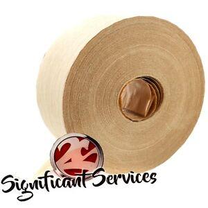 Water Activated 2.75 x 500' Reinforced Kraft Paper Carton Sealing Gummed Tape