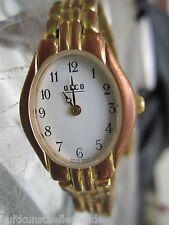 ☆ vintage armbanduhr osco rot und gelbgolden hartvergoldet swiss made