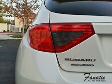 08-14 WRX STi Tail light Overlays Smoked Reverse Cutout REDOUT RED JDM Tint
