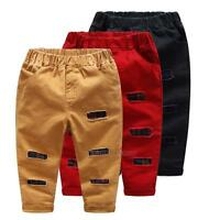 Toddler Baby Boys Fashion Pants Spring Summer Bottoms Leggings Trousers 2-7Y