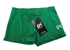 GK Elite Green Gymnastics Shorts - AM Adult Medium 0448