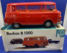 VEB Anchor 1:25 Barkas B 1000 MiniBus Red Friction Power Plastic GDR RARE BOXED