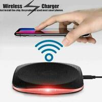 Qi Wireless Charger Schnellladestation für iPhone 5C 7 5V 2A 8 Plus Schwarz U4N0