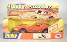 DINKY TOYS 206 Customised Corvette stingray rouge FLAMMED dans O-Box #988