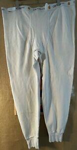 NWOT Carhartt men's ivory 3XL cotton thermal bottom USA made